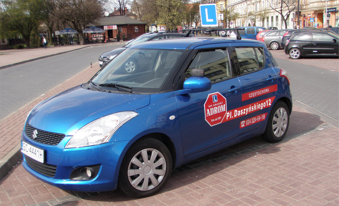 Nauka Jazdy Częstochowa - samochód adrom