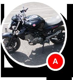 Motocykl do nauki jazdy A